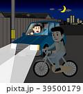 自転車の無灯火運転 39500179