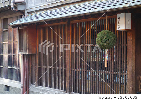 杉玉 金沢ひがし茶屋街 イメージ素材  39503689