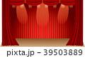 カーテンイメージイラスト 赤色 39503889