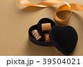 チョコ チョコレート プレゼントの写真 39504021