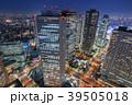 都市風景 新宿ビル群の夜景 39505018