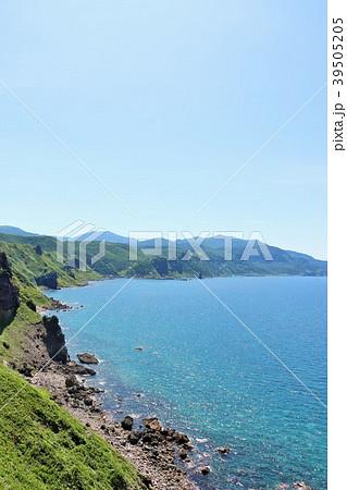 北海道 夏の神威岬と青い海 39505205