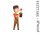お花 フラワー 咲く花のイラスト 39512233