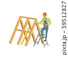 大工 大工さん 木工のイラスト 39512827