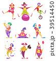 Clowns Icons Set 39514450