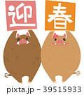 猪 亥 年賀状のイラスト 39515933