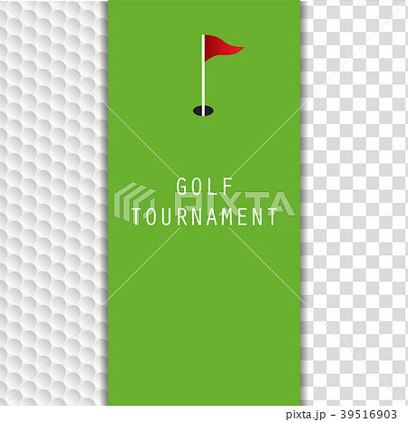 golf tournament invitation flyer template graphicのイラスト素材