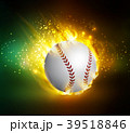 ベースボール 白球 野球のイラスト 39518846