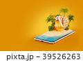 スマホ スマートフォン トロピカルのイラスト 39526263