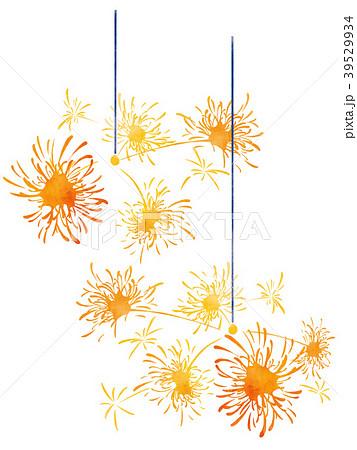 線香花火 水彩イラストのイラスト素材 39529934 Pixta