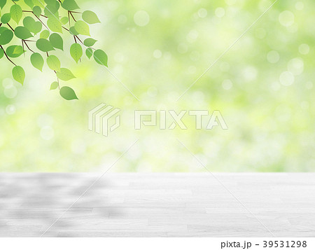 wood table top on green bokeh abstract background 39531298