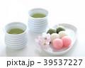 花見団子 三色団子 お茶の写真 39537227