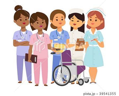 Doctor nurse character vector medical woman staff 39541355