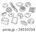 焼きたてパンのベクターイラスト セット 線画 39550709
