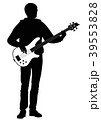 Abstract silhouette of guitarist 39553828