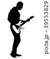 Abstract silhouette of guitarist 39553829