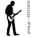 Abstract silhouette of guitarist 39553830