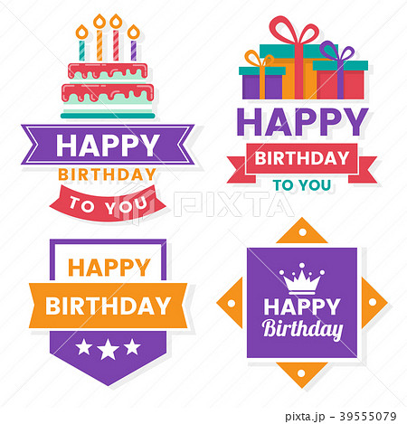 Happy Birthday Vector Logo for banner 39555079