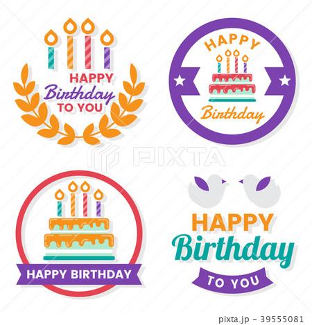 Happy Birthday Vector Logo for banner 39555081