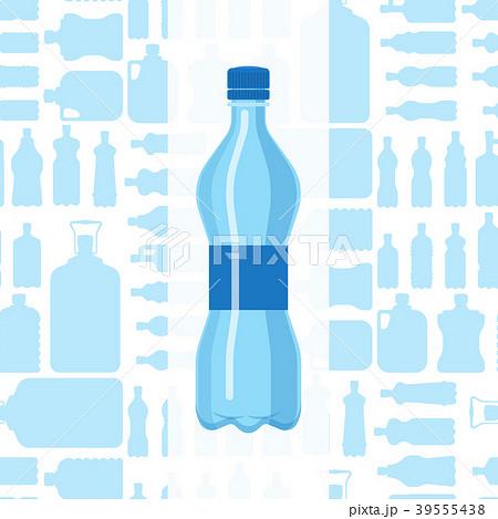 plastic water bottle vector blank brochure natureのイラスト素材