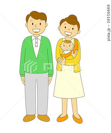 夫婦 あかちゃん 笑顔 39556669