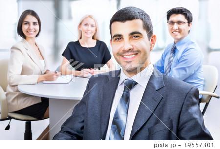 business man with colleaguesの写真素材 39557301 pixta