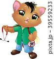 こねこ 仔猫 子ネコのイラスト 39559233