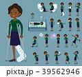 女性 黒人 ビジネスのイラスト 39562946