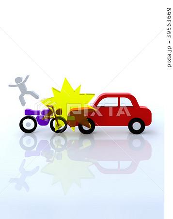 交通トラブル 車とオートバイの衝突事故 39563669