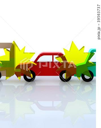 交通トラブル 車同士の玉突き事故 39563737