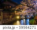 祇園白川 夜桜 桜の写真 39564271