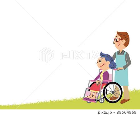 介護士とおばあちゃん 39564969