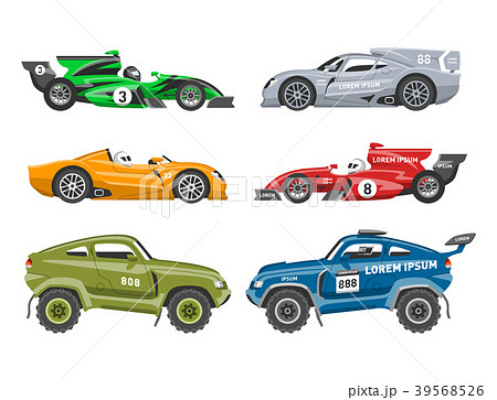Sport race car vector speed automobile and offroad 39568526