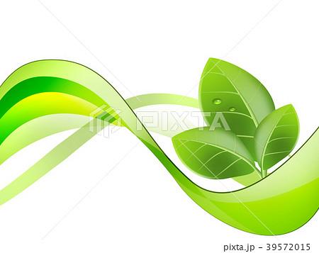 エコロジー エコ背景 抽象背景 ウェーブ 曲線模様 抽象模様 アブストラクト  39572015