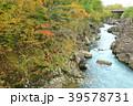 厳美渓 渓谷 紅葉の写真 39578731
