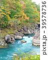 厳美渓 渓谷 紅葉の写真 39578736