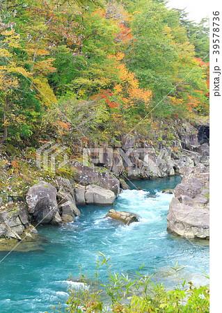 岩手県 厳美渓 紅葉景色 39578736