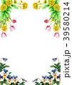 植物 花 装飾のイラスト 39580214