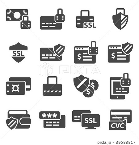 Vector Secure payment icons set 39583817