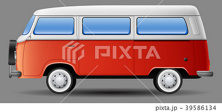 Old classic camper minivan 39586134