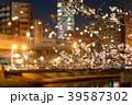 夜桜 夜景 紫川の写真 39587302