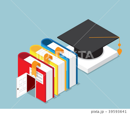 books is door to success of education vectorのイラスト素材 39593641