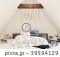 ベッドルーム 寝室 インテリアのイラスト 39594129