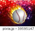 ベースボール 白球 野球のイラスト 39595147