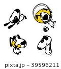 わんこ 犬 組み合わせのイラスト 39596211