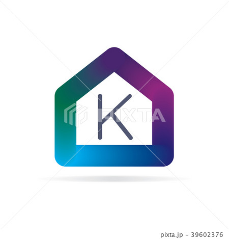 house logo with letter k sign logo templateのイラスト素材 39602376