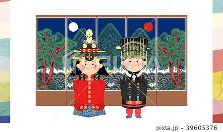 Vector illustration - The traditional Korean wedding 007 39605376