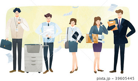 Vector illustration - People who have jobs as same trail. People working at various jobs  without distinction of sex, men or women recently. 001 39605445