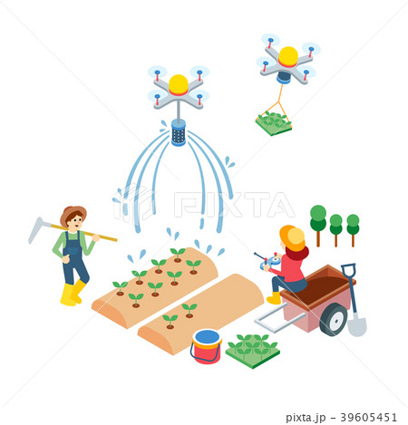 Vector - related to use of drone illustration. how to use drone for our life. 006 39605451