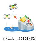 ドローン 釣り人 釣人のイラスト 39605462